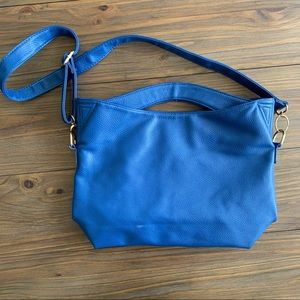 Royal Blue Tote with Gold Hardware